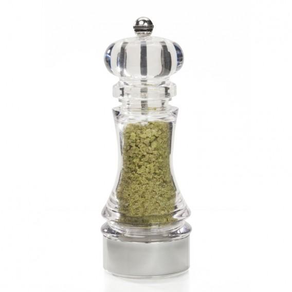 Salt with Basil and Garlic, round grinder 80g