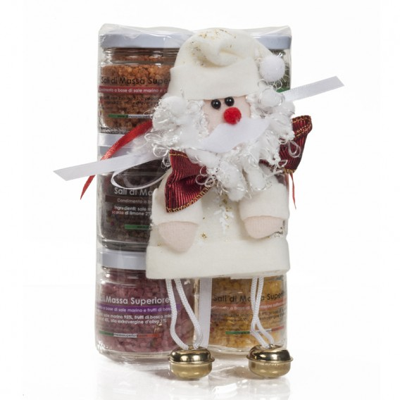 Six flavour salts in 80 g jars - Christmas box