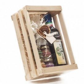 Sei sapori in vesetti da 25g + Braciolio 250ml in Scatola di legno