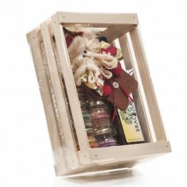 Sei sapori in vasetti da 25g + Braciolio 250ml in Scatola di legno Confezione Natale