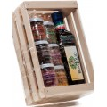Assortment box, all tastes,and big jar end 500 ml extra virgin olive oil