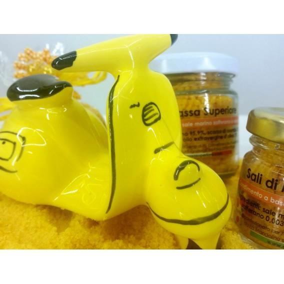 Saffron salt jar large 180 gr.