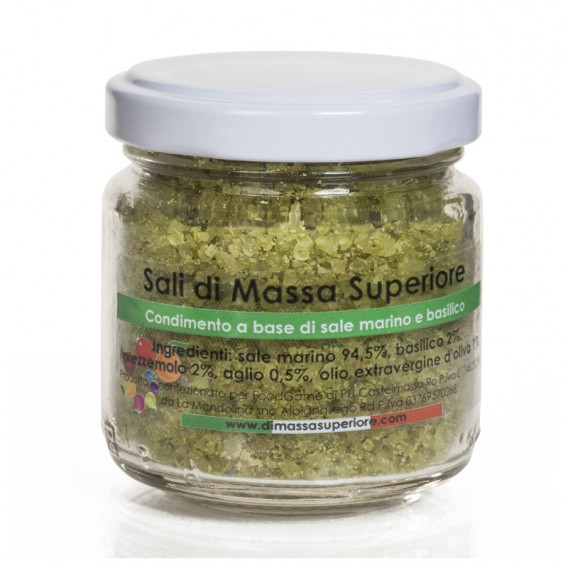Salt with Basil and Garlic, jar 80 g