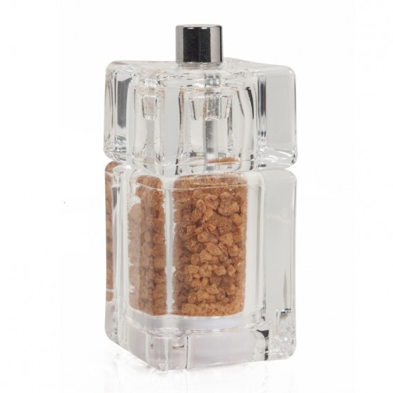 Salt with sweet Paprika and Peppers, square grinder 30g